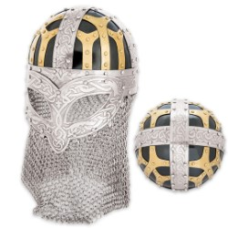 Viking Helmet With Chain Mail Guard