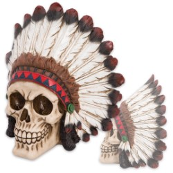 Indian Brave Chieftain Skull