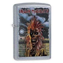 Iron Maiden Street Chrome Zippo Lighter - Eponymous Debut Album Cover Art