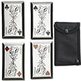 Ninja Throwing Cards - JOKER 4pc Knife Set w/ Sheath