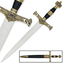 King Solomon Dagger Gold Medieval