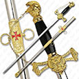 Knight Templar Sword of The Light - Golden Edition