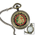 Knights Templar Pocket Watch - Highly Detailed w/ Armor of God