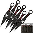 Kunai Orbital Throwing Knives w/ Leg Sheath - 6pc Set