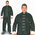 Ninja Uniform - Kung-fu Suit w/ White Buttons - XX-Large
