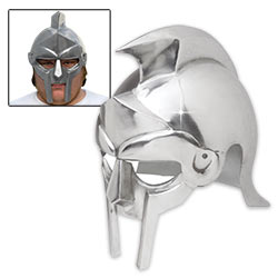 Re-enactor's Gladiator Warrior Steel Helmet – 18 Gauge Carbon Steel
