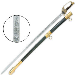 Civil War Field Officer Saber Sword - Engraved