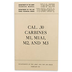 Military Manual - Caliber 30 Carbines