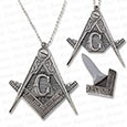 Masonic Necklace Knife w/ Hidden Blade