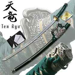 Ten Ryu –Hand Forged Damascus Steel Katana