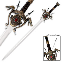Medieval Dragon Sword – Complete w/ Wall Display Plaque