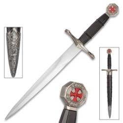 Crusader Ebony Prince Dagger With Scabbard