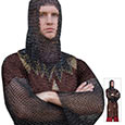 Medieval Steel - Armor Chainmail Tunic - 18 Gauge