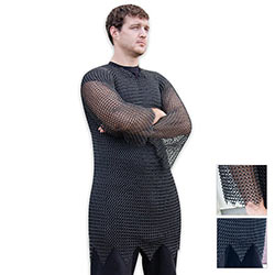 Medieval Steel - Black Chainmail Armor Tunic