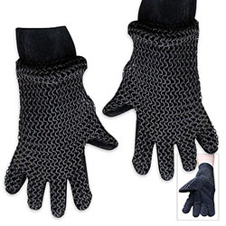 Medieval Steel - Chainmail Armor Gloves w/ Padding