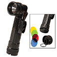 Military Type Flashlight w/ 5 Lens - Black Body
