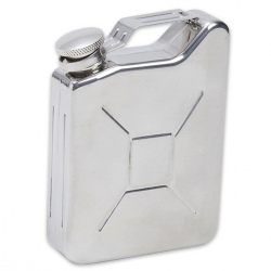 Military Gas Can Styled Flask - Stainless Steel - 5 oz.