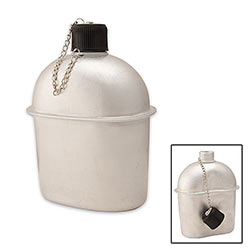Military Style Canteen - Aluminum - 1 Qt.