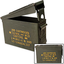 Military Surplus Ammo Can - All Metal - .30 Caliber