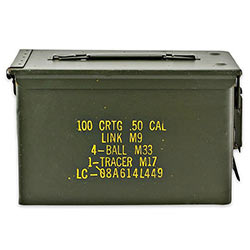 Military Surplus Ammo Can - All Metal - .50 Caliber