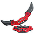 Spring Assist - 'Legal Auto Knife' - Modern Karambit Duo - Red
