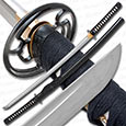 Musashi - 1060 Carbon Steel - Cyclone Sword w/ Tempered Blade