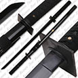 Musha - Koga Black Ninja Sword Full Tang