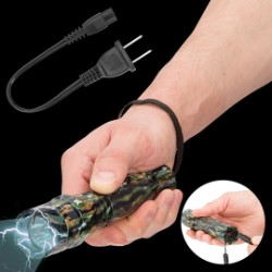 Night Watchman 2 Million Volt Stun Gun / LED Flashlight Combo Defense Tool - Jungle Camo