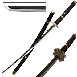 Anime Adventure Inspired Samurai Katana - Black & Bronze