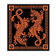 Tapestry - Red Oriental Dragon Duo