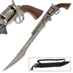 Otherworld Elegance Steampunk Gun Knife