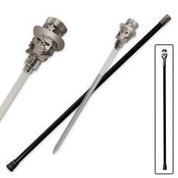 "Patriotic Skull Sword Cane- 37"" overall"