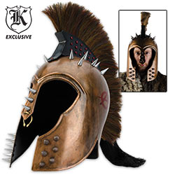 Trojan War Helmet 18 Gauge Steel Battle Worn