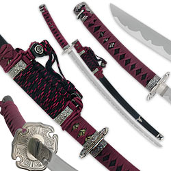 Samurai Warrior Katana Sword – Purple & Black w/ Scabbard