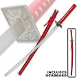 Katana Sword- Red Spider w/ Scabbard