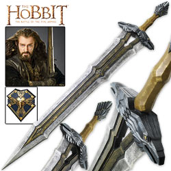 The Hobbit - King Thror's Massive Regal Sword w/ Display