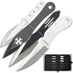 Throwing Knife Super Set - Four Styles w/ Sheath - 24pcs Total