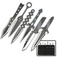 Six Piece Exposed Handle Fantasy Throwing Knife Set – Stainless Steel