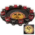 Roulette Wheel Drinking Game Set - 16 Shot Glasses