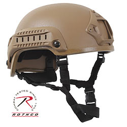 Paintball & Airsoft Military Tactical Style Base Jump Helmet ABS-Coyote