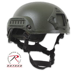 Paintball & Airsoft Military Tactical Style Base Jump Helmet ABS-OD Green
