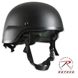 ABS Plastic MICH-2000 Military Tactical Helmet-Black