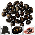 Rune Stone Set w/ Velvet Bag - Pack of 24