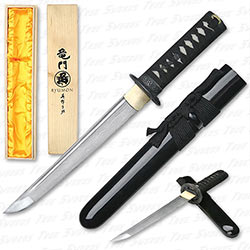 Ryumon - Folded 1065 Dragon Tsuba Tanto