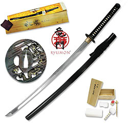 Ryumon - Forged AISI 1060 Dragon Battle Ready Katana