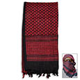 Special Forces Shemagh Tactical Scarf - Red & Black