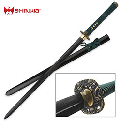 Shinwa Black Dragon Double Edged Katana Sword