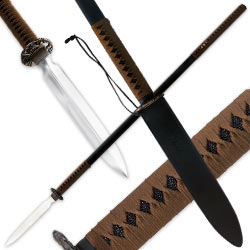 Shinwa Warrior Spear - Carbon Steel w/Tan Cord Wrap