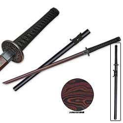 "Shinwa Imperial Zatoichi Sword Black Damascus – 2000 Layers, 40-3/4"" Ov."