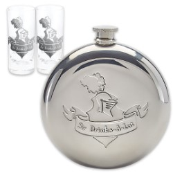 Sir Drinks-A-Lot Flask Set